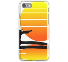 Karate at Sunset iPhone Case/Skin