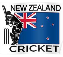 New Zealand Cricket Poster