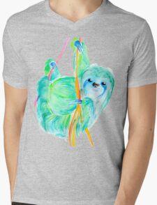 Dream Sloth Mens V-Neck T-Shirt