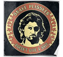 Snake Plissken (doesn't give a shit) Vintage 2 Poster