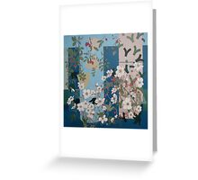 Veiled in white and blue Greeting Card