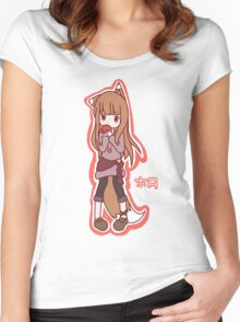 Horo - Spice and Wolf Women's Fitted Scoop T-Shirt