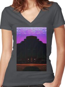 CORPORATE NIGHTMARE Women's Fitted V-Neck T-Shirt