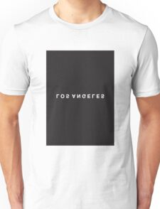 Los Angeles Minimalist Black and White - Trendy/Hipster Typography Unisex T-Shirt