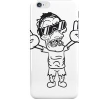 rocker hard rock heavy metal musik party feiern band konzert festival sonnenbrille untoter böse ekelig monster horror halloween zombie  iPhone Case/Skin