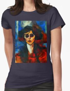 portrait of maude abrantese Womens Fitted T-Shirt