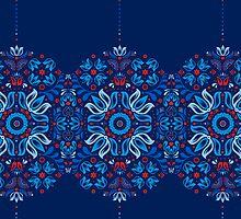 Folk Floral Tale by Corinna Djaferis