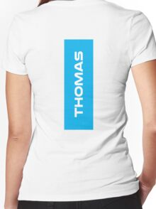 Geraint Thomas White Women's Fitted V-Neck T-Shirt
