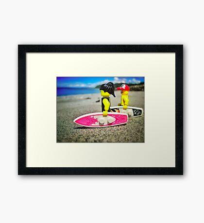 Pre-surf Framed Print