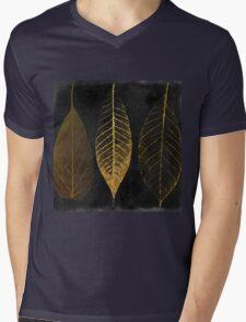 Fallen Gold Autumn Leaves I Mens V-Neck T-Shirt
