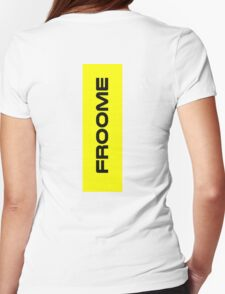 Chris Froome Yellow Womens Fitted T-Shirt