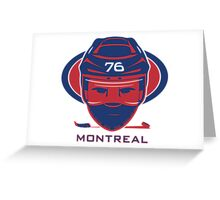 Montreal Hockey T-Shirt Greeting Card
