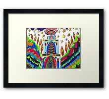 ABSTRACT HOUSE IN THE VALLEY Framed Print