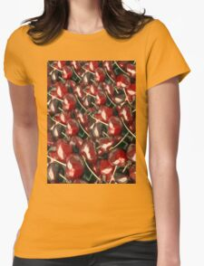 cherry zz Womens Fitted T-Shirt