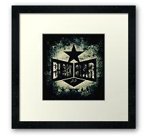 BOWIE-BLACKIE STAR Framed Print
