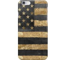 American Flag Gold and Black  iPhone Case/Skin