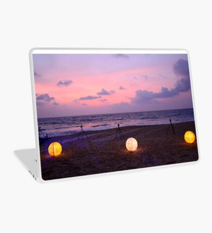 Celebration Lights on the Beach Laptop Skin