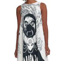 Grimes Artwork #3 A-Line Dress