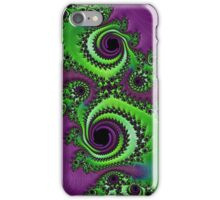 Gorgeous Purple Green Fractal  iPhone Case/Skin