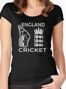 England Cricket Women's Fitted Scoop T-Shirt