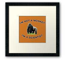 I'm a Scientist! Framed Print