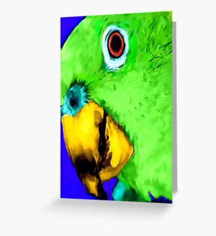 green bird Greeting Card