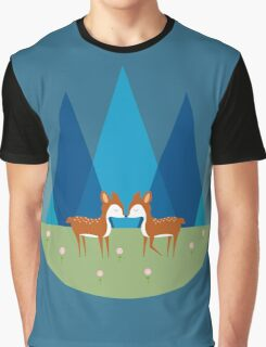 Cute Baby Deer Illustration Graphic T-Shirt