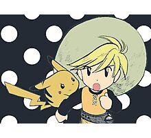 Trainer Yellow Manga Edit Photographic Print