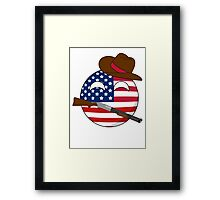 USA Ball Framed Print
