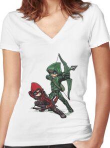 Green Arrow Women's Fitted V-Neck T-Shirt