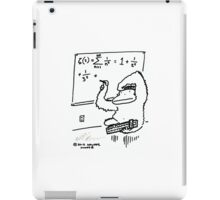 Slide Rule Ape Solves Equation iPad Case/Skin