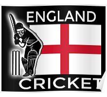 England Cricket Poster