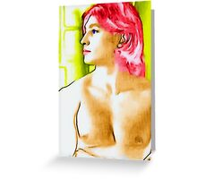 boy with red hair Greeting Card