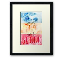 ice and fire and blood Framed Print