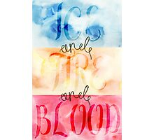 ice and fire and blood Photographic Print
