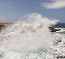 Crashing Waves at Boka Tabla by Kasia-D