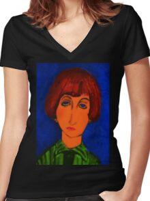 the devil wears k-mart Women's Fitted V-Neck T-Shirt