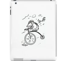 Penny Farthing Ape Hurtles Down the Hill iPad Case/Skin