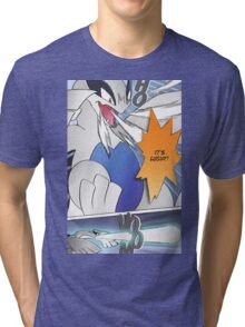 It's Lugia!! Manga Edit Tri-blend T-Shirt