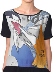 It's Lugia!! Manga Edit Chiffon Top