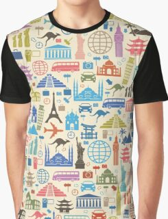 Icons of Travel Graphic T-Shirt