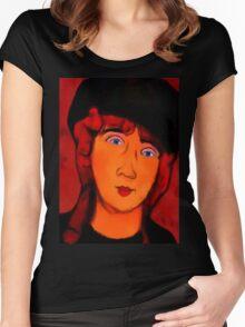 portrait of lolottle Women's Fitted Scoop T-Shirt
