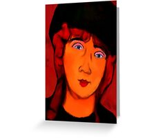 portrait of lolottle Greeting Card