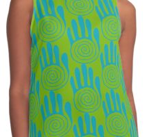 Native American Hand 3 Contrast Tank