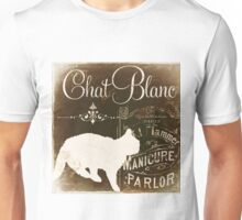 Chat Noir II Vintage Paris Sign Unisex T-Shirt
