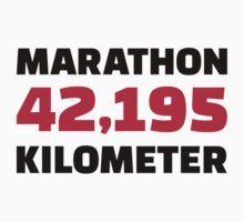 Marathon 42 kilometer by Designzz