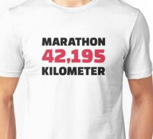 Marathon 42 kilometer Unisex T-Shirt