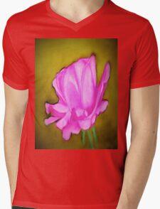 pretty pink flower Mens V-Neck T-Shirt