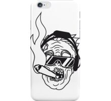 party dj joint rauchen kopfhörer musik cool sonnenbrille gesicht horror halloween kopf zombie böse gruselig cartoon  iPhone Case/Skin