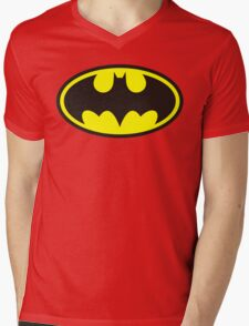 BATMAN Mens V-Neck T-Shirt